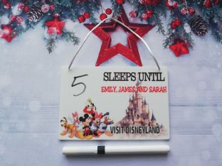 Personalised Countdown to Disneyland Plaque